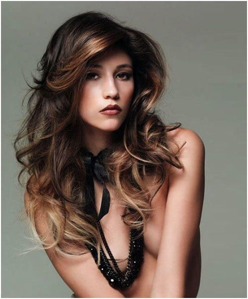 Wavy long hair.  When my hair finally gets to this length I want it to look like this.  May need to invest in some leave in curlers...