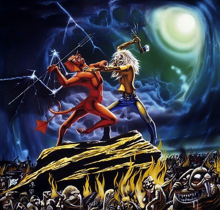 Iron Maiden Run To The Hills Single Artwork By Derek Riggs