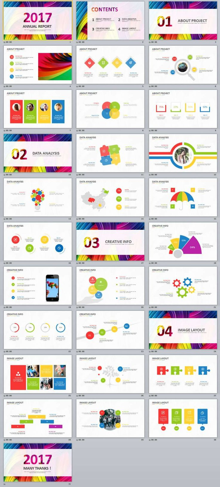 151 best powerpoint templates images on pinterest keynote 31 multicolor business report powerpoint templates toneelgroepblik Choice Image
