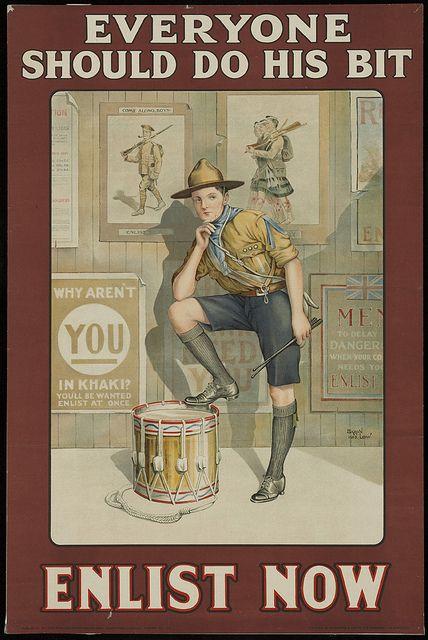 Everyone Should Do His Bit. #WWI #vintage