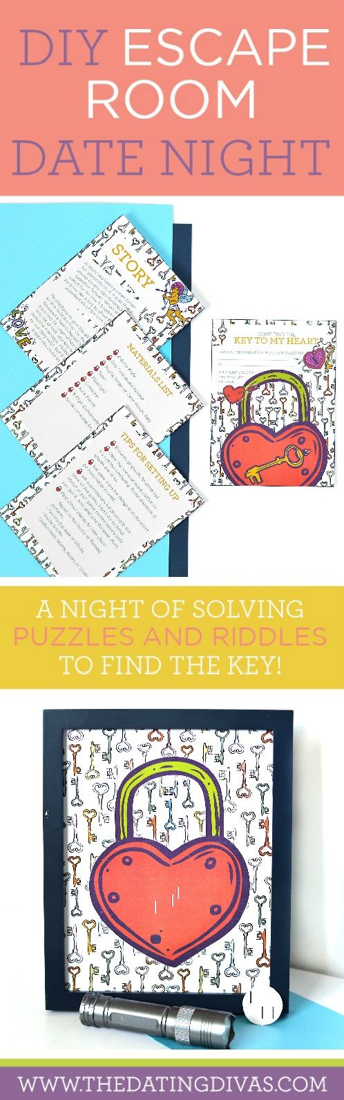 DIY Escape Room Date Night- AKA Panic Room. Such a creative and fun date night…