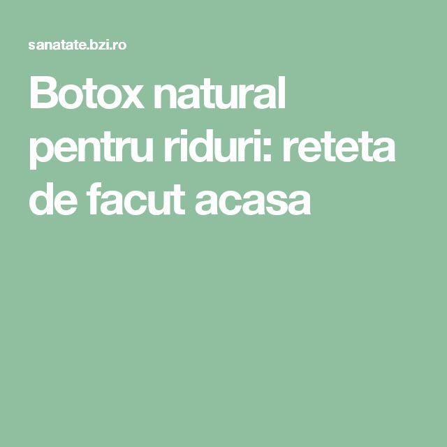 Botox natural pentru riduri: reteta de facut acasa