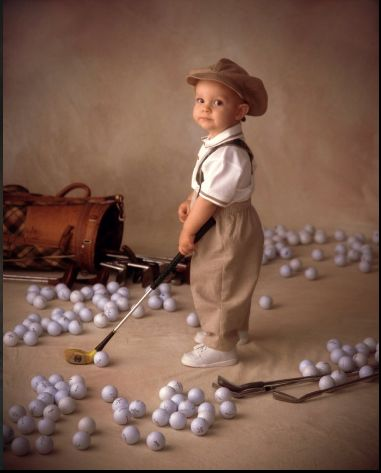 Golf Picture-so cute for our kid someday (way in the future)