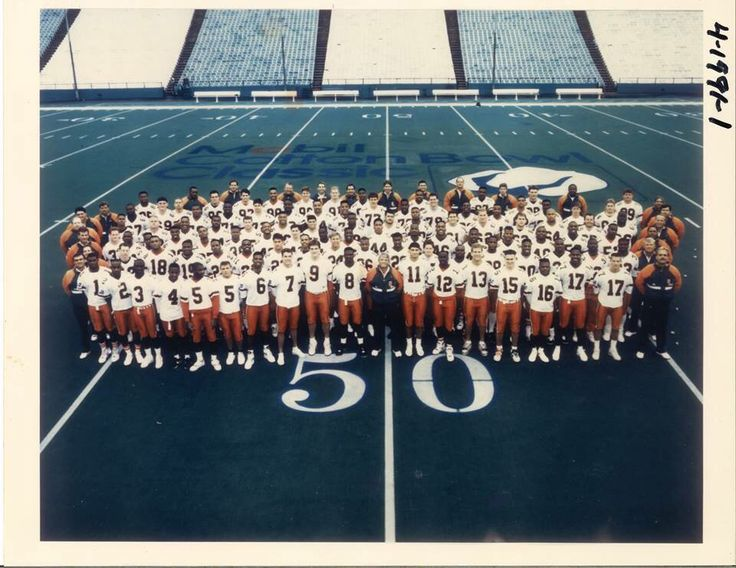 Leon Searcy‏ @leonsearcy72 4h4 hours ago  That's that Canes Cotton Bowl team. We wore some a$& kicking boots to that game. Texas size beat down 46-3