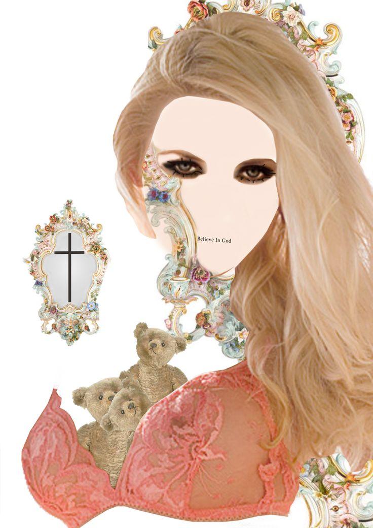 Collage. Believe In God Illustration. 2014.