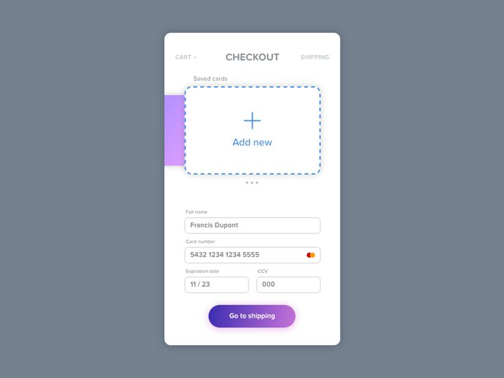 Hello everyone! Today, the challenge was to design a checkout page for any subject. I chose something universal that can be used on any type of shop. Hope you like it, let me know what to improve,...