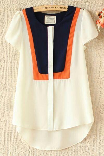 White Orange & Navy