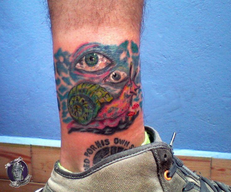 Tattoo Caracol Espiral de tiempo,Turbias Pesadillas, Composicion En Proceso, Tattoo Athenea.