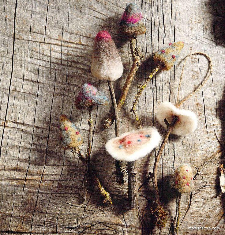 Roost Woodland Felt Mushroom Ornaments – Modish Store