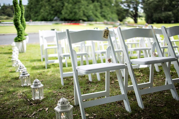 #Outdoor Ceremony chairs.lanterns set up