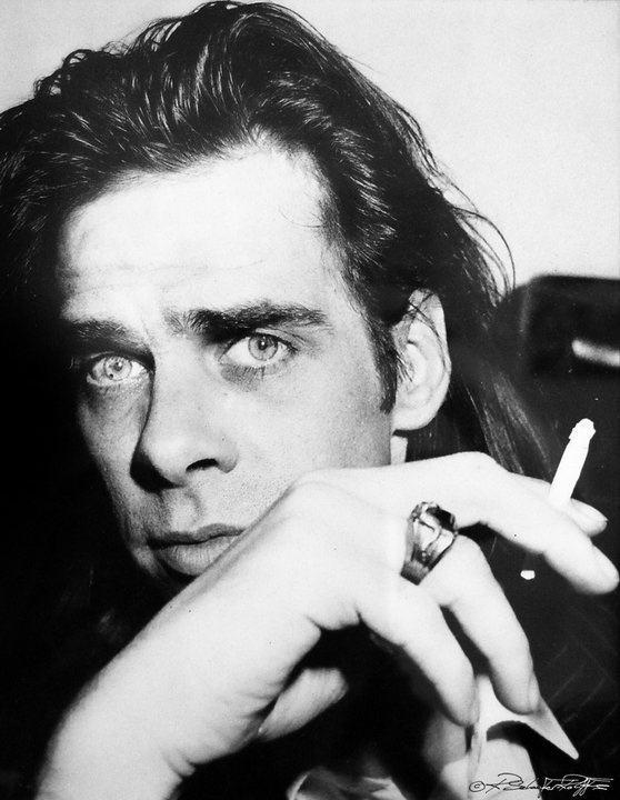 Nick Cave, looking oddly like a young Joseph Campbell here.  Eerie.