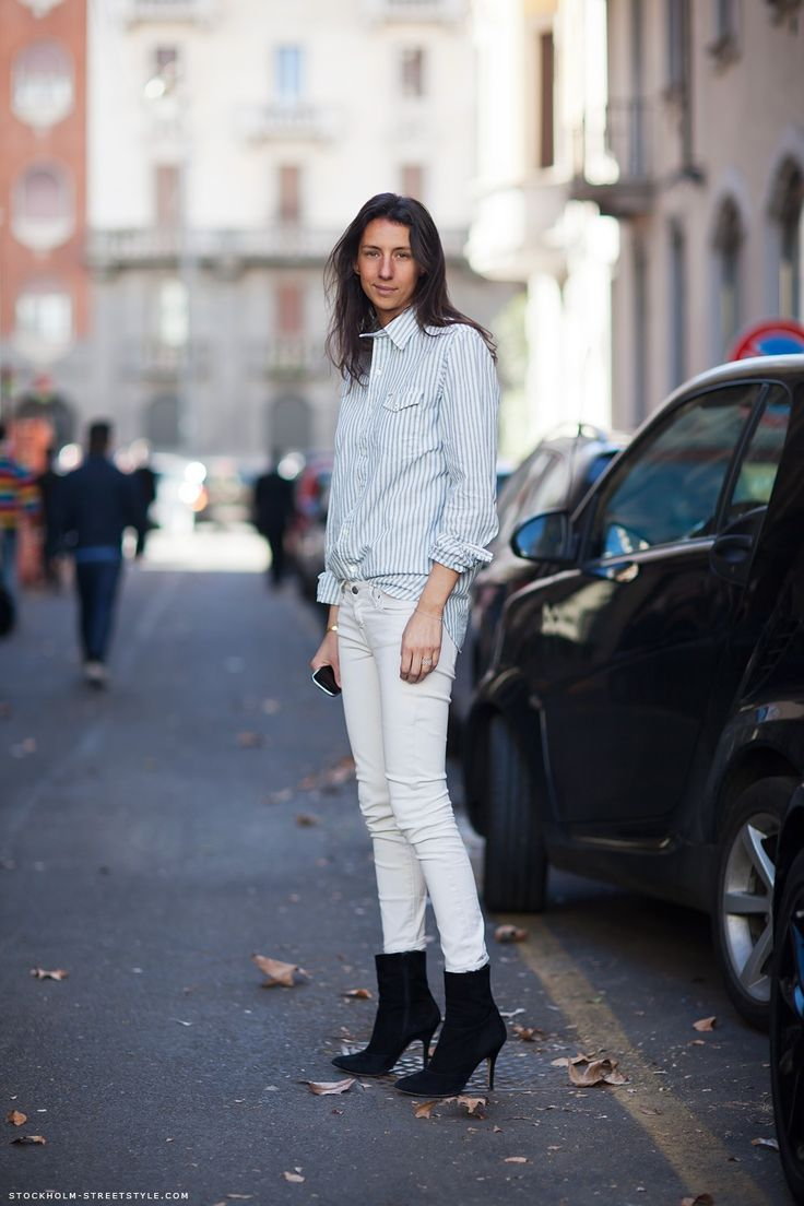 64 Best Images About La Parisienne On Pinterest Editor White Jeans And New York Fashion