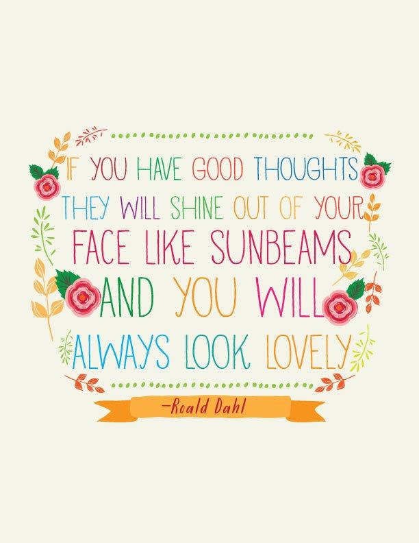 roald dahl quote // Art Print // Colorful Nursery Art. $16.00, via Etsy.