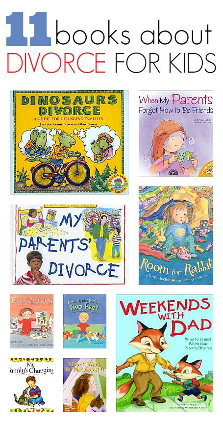 Books About Divorce - great list to have on hand for students going through it.