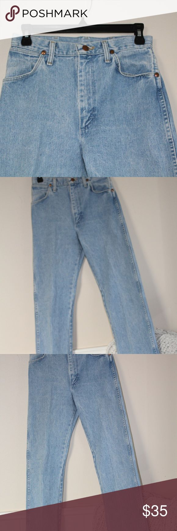 Vintage Wrangler Pants mom jeans style wranglers no pockets in back size listed 7x32   no stains or holes Wrangler Pants Straight Leg