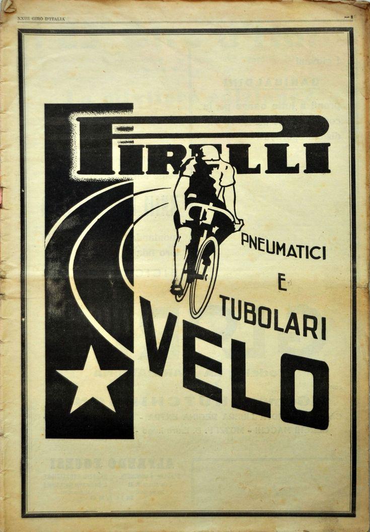 """classicvintagecycling """" Pirelli Velo ad, La Gazzetta"""