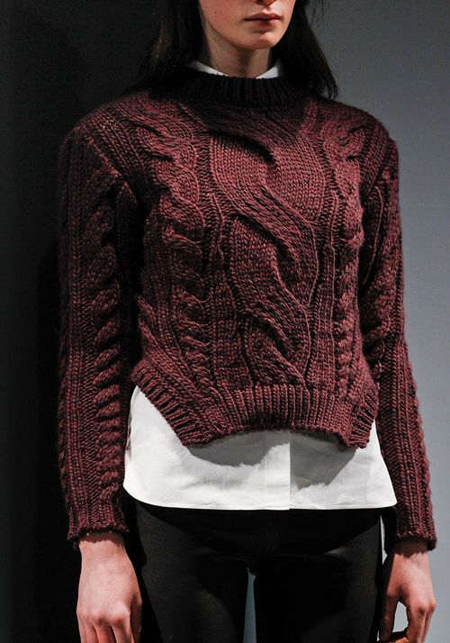 Carven F/W '11 - very interesting rib shaping...seeing it on Celine, McQueen and Kenneth Cole