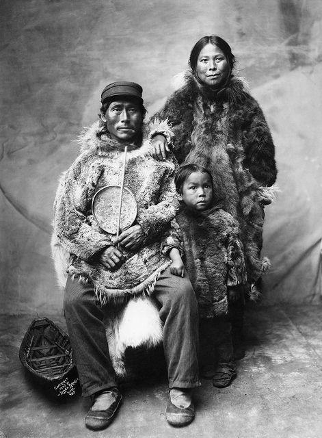 Inuit Family in Winter Clothing  Alaska  Date:1903
