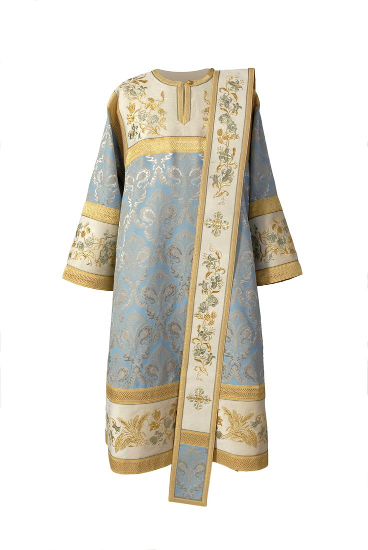 $650.00 Deacon Vestment from the Workshop of St. Elisabeth Convent - Handmade - To learn more about our Workshop: http://catalog.obitel-minsk.com/sewing-workshop - #CatalogOfGoodDeeds #StElisabethConvent #Orthodox #Orthodoxy #Vestments #Church #Handmade #Workshop #Monastery #Deacon #Religion