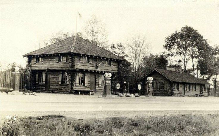 Gas Station And The Log Cabin Restaurant Borough Of
