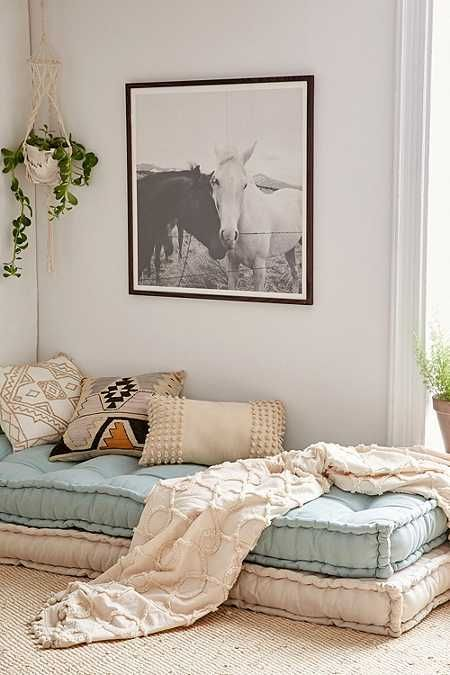 If you ever wanted to switch out the window seat cushions in the guest bedroom, this could be a good option if it's the right size - Rohini Daybed Cushion - Urban Outfitters