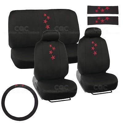 9 Piece Nautical Star Supreme Set Print Auto Seat Cover Airbag Compatible
