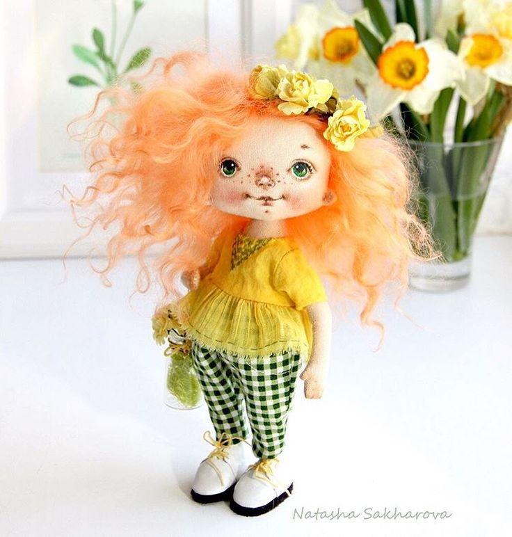 Textile soft doll by Сахарова Наталья