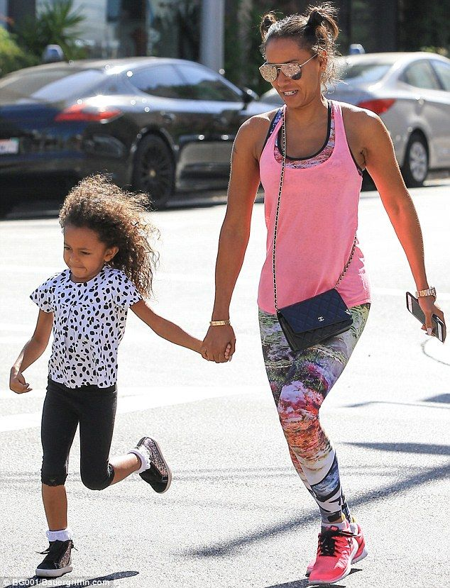 In the pink: Mel B looked excited to be out and about with daughter Madison in LA on Tuesday
