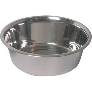 Voerbak van 24 cm. voor honden, gemaakt van roestvrijstaal (RVS). Voerbakken van RVS zijn snel en grondig te reinigen en kunnen tevens in de vaatwasser. Op www.shopwiki.nl #huisdieren #hondenbak