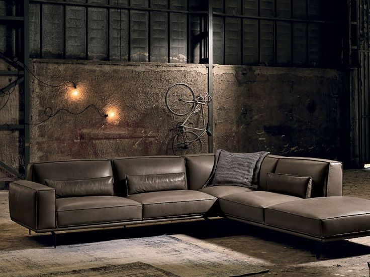 BRERA | Leather sofa Brera Collection By Max Divani