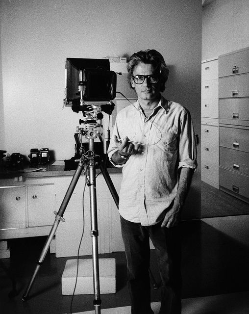 Photographer Richard Avedon with Camera