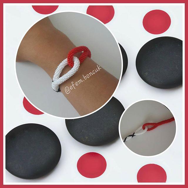 ⚪🔴⚫ #siyah #beyaz #kırmızı #siyah #black #white #red #bileklik #boncuk #beadbracelet #beadwork #taki #aksesuar #womenjewelry #accessories #elyapimi #elemeginedestek #hobinisat #crafts #handmadegifts #thehandmadeparade #10marifet #ozelsiparis #benyaptimoldu #günlükşıklık #efemboncuk