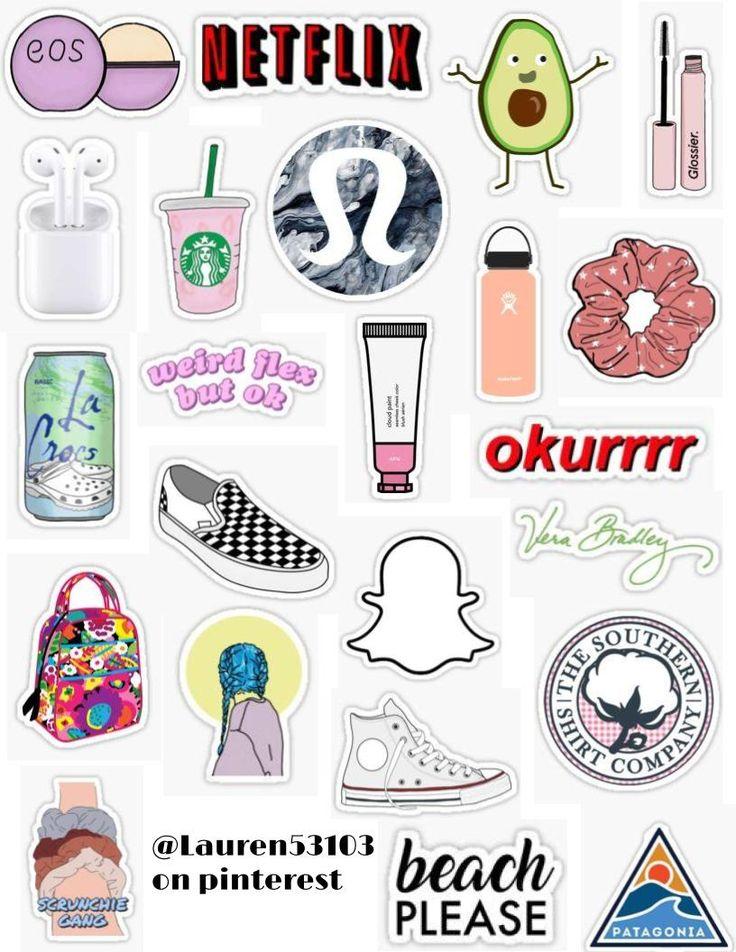 White Girl Sticker Pack White Girl Starter Pack Basic