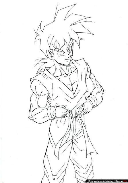 Dibujos de Dragon Ball z para Imprimir y Colorear Dragon