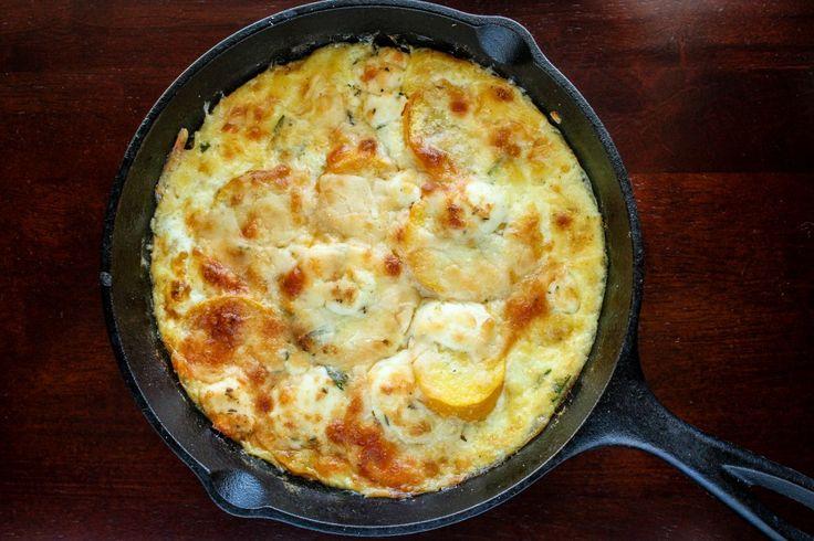 Farmer's market zucchini gratin. Worth it http://bakesinslippers.com ...