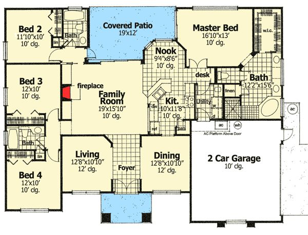 19 best house plans 2000 2800 sq ft images on pinterest for 500 sq ft garage
