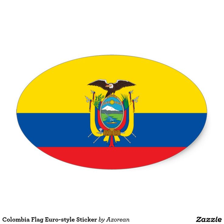 Colombia flag euro style sticker