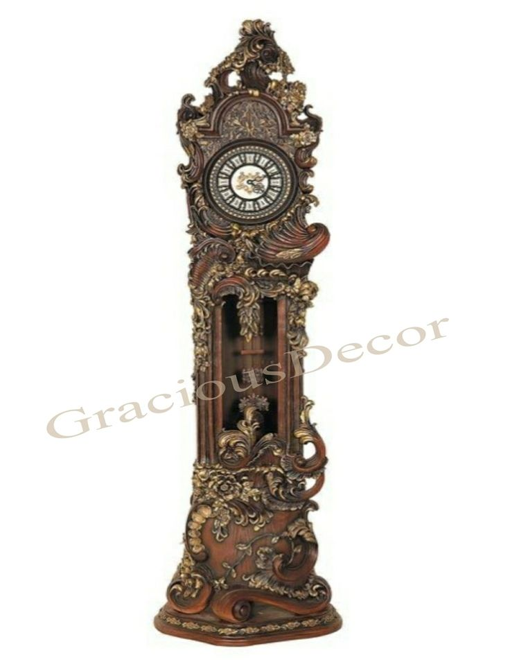 Hand Carved,Painted,Grandfather,Floor,Standing,European,Style,Clock,Hand,Painted,howard miller grandfather clock,howard miller grandfather clocks,grandfather clocks for sale,antique grandfather clocks for sale,grandfather clock for sale,antique clock