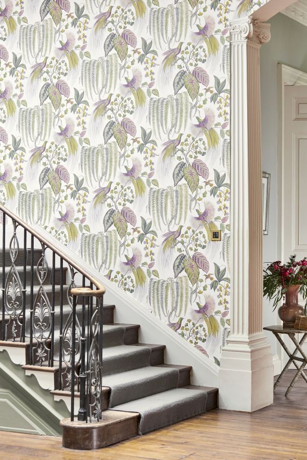 Bird Of Paradise By Sanderson Orchid Wallpaper 216654 Orchid Wallpaper Pattern Wallpaper Marimekko Wallpaper