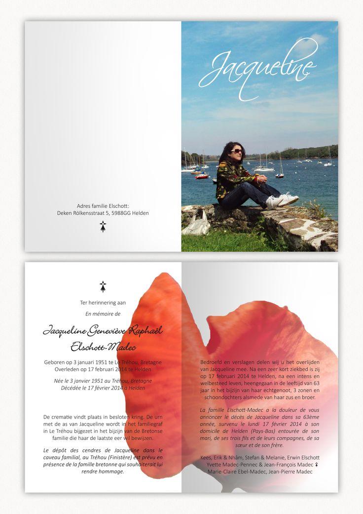 In memoriam/En mémoire de/Ter herinnering aan by: E.R.P. Elschott (Avenue '86 - creative design workshop) #inmemoriam #enmemoirede #terherinneringaan #memories #card #carte #bidprentje #gebedsprent #gedachteniskaart #rip #poppy #graphicdesign #grafischontwerp #grapics #klaproos #ontwerp #design #avenue86 #erpelschott