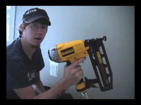 good video on  how to use a nail gun and compressor