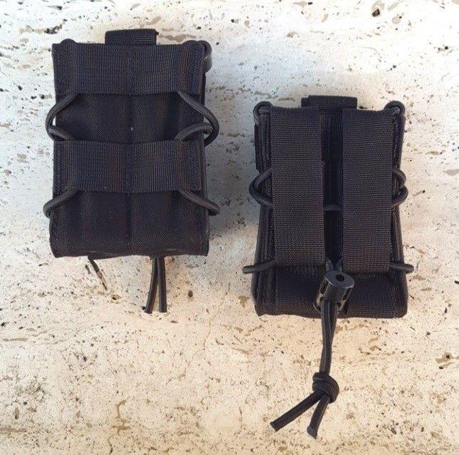 """""""TACO"""" STYLE M4/AK MAG POUCH BLACK"""