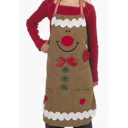 gingerbread boy apron | Gingerbread Child's Apron Craft Kit - FindGift.com