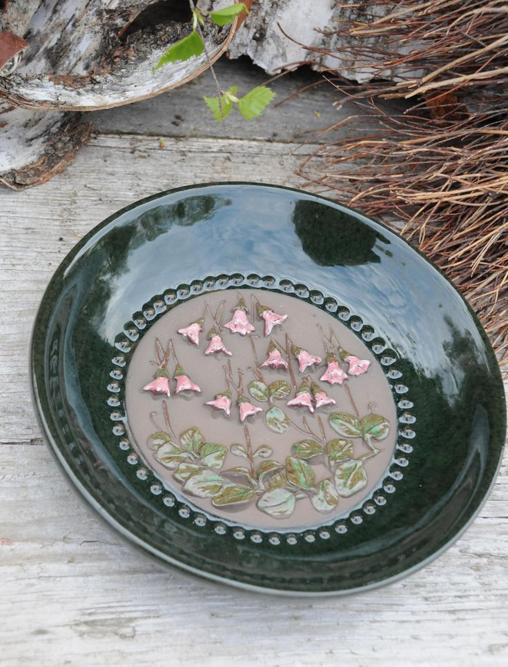 Jie Gantofta by Aimo. Linnea Flower Wall plaque. Vintage decor, made in Sweden. Scandinavian modern pottery by FridasVintage on Etsy