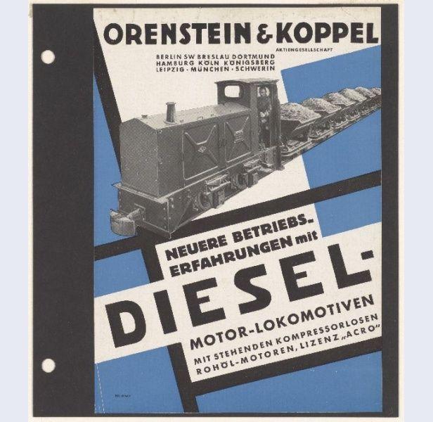 César Domela [1900-1992] Reclameblad nr.518 A Orenstein & Koppel A.G. Diesel-Motor-Lokomotiven