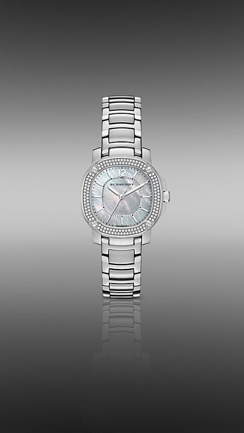 The Britain BBY1801 34mm Diamond Bezel | Burberry watch