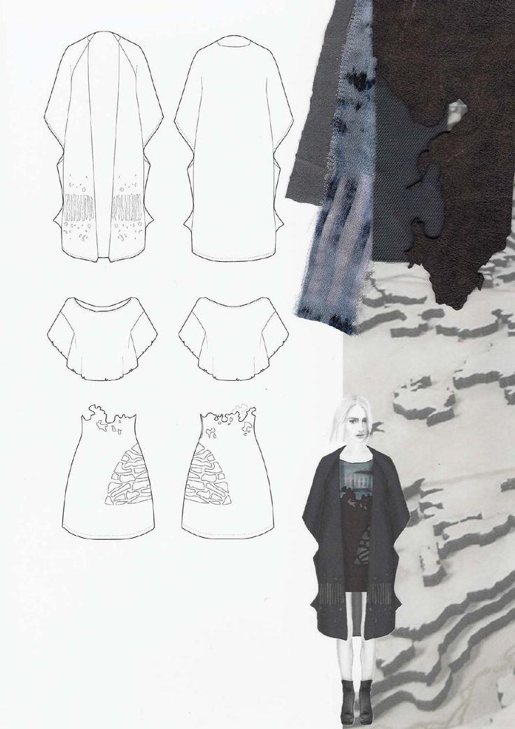 Fashion Sketchbook - fashion design drawings & textile swatches; fashion portfolio // Amanda Svart