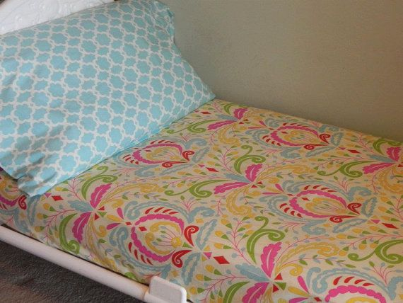 Toddler Sheet and Shandard Pillowcase  Two by SeasonsofLoveBtq