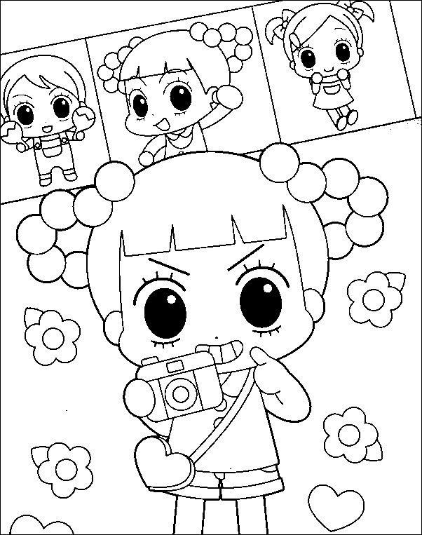 안녕 자두야 색칠공부 색칠자료 이미지 모음 만화영화색칠
