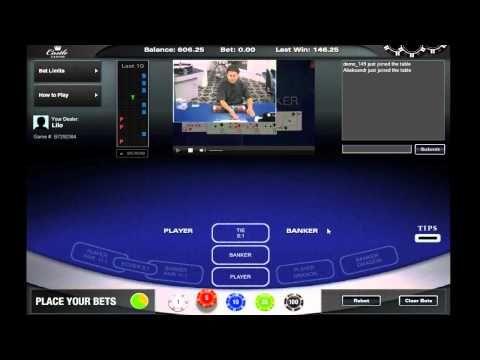 Live Baccarat at Castle Casino - Dealer Lilo http://www.castlecasino.com/live-baccarat